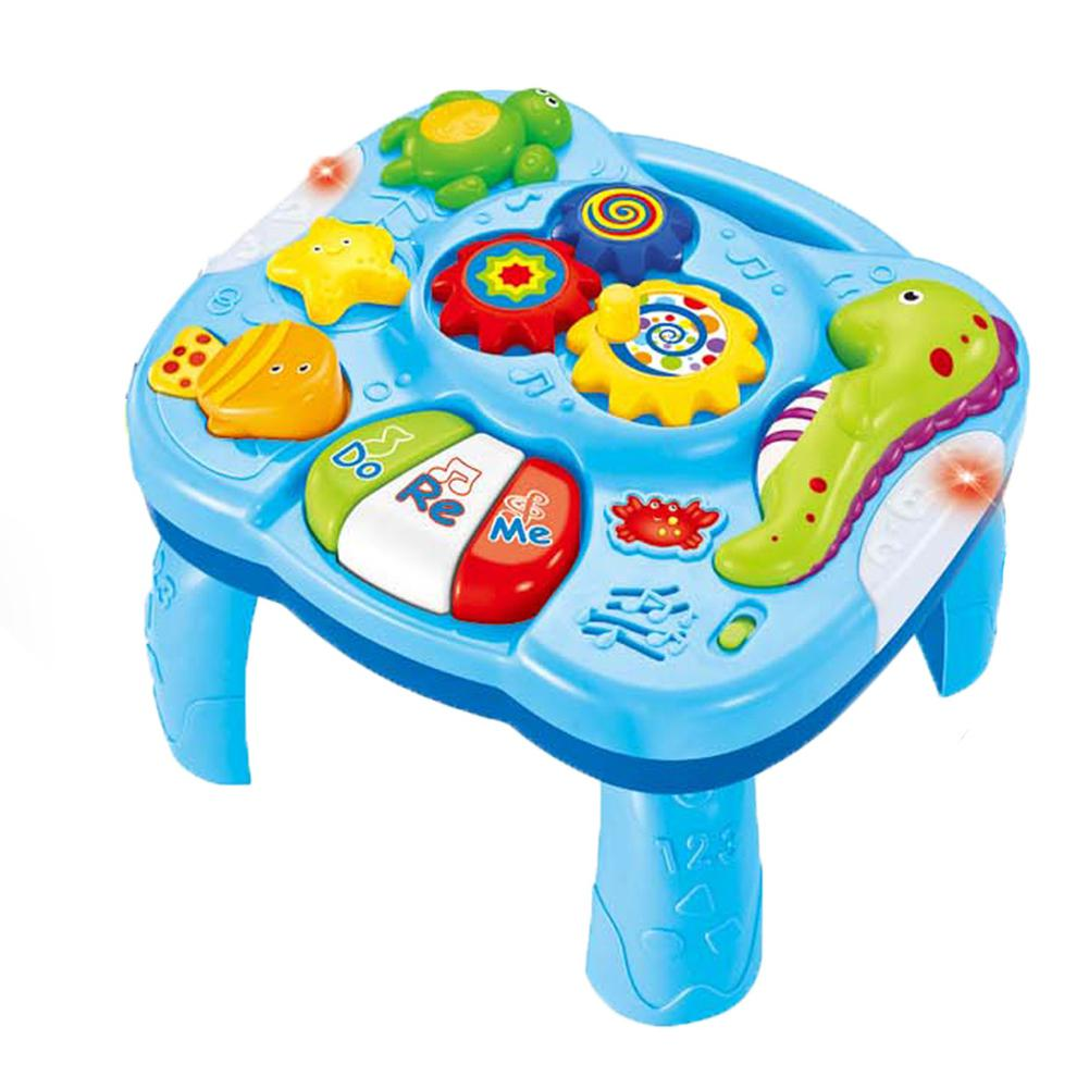 RCtown Baby Music Table Toy Kids Learning Study Playing Toy Musical Instruments Educational Toys