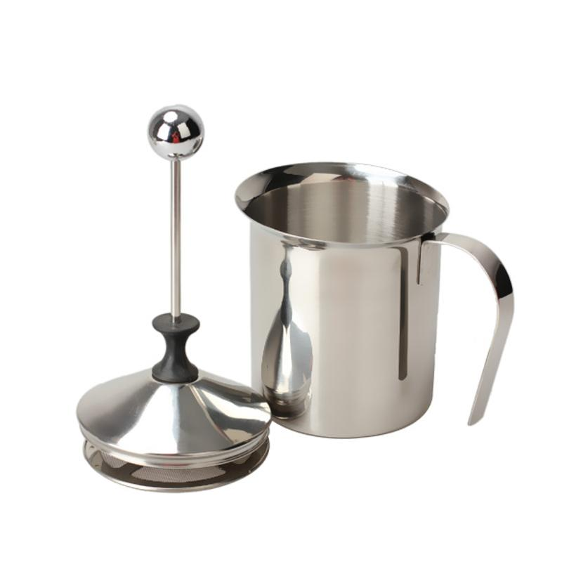 New 800ML Stainless Steel Milk Frother Cappuccino Creamer Foam Coffee Pull Flower Cup Double Mesh Milk Frothers Mugs