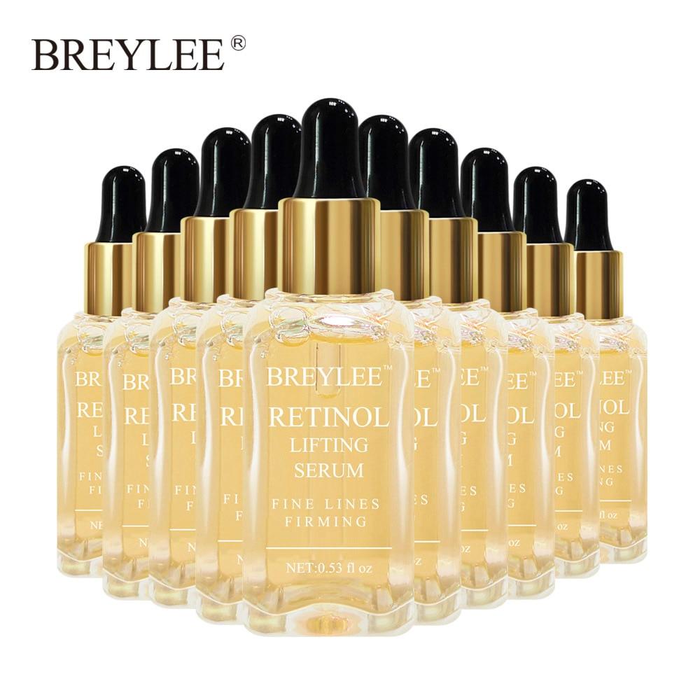 Breylee Retinol Lifting Firming Serum Face Facial Collagen Essence Remove Wrinkles Anti Aging Skin Care Fade Fine Lines 10pcs