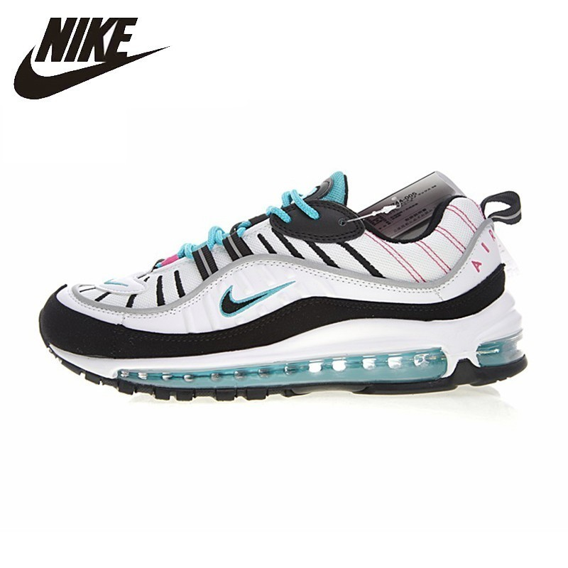 brand new c47a9 4bfe4 US $82.0 59% OFF|NIKE Air Max 98 Original New Arrival Men's Running Shoes  Cushion Authentic Comfortable Sport Outdoor Sneakers #640744-in Running ...