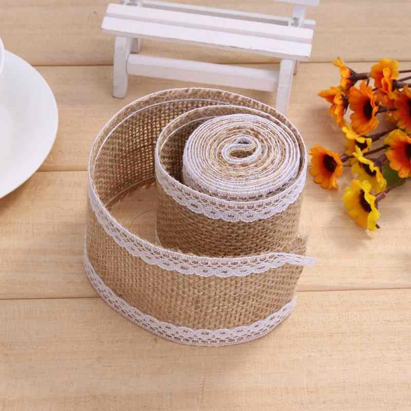 Jute Tape Strap Hessian Rustic wedding decoration Furniture Burlap Trim
