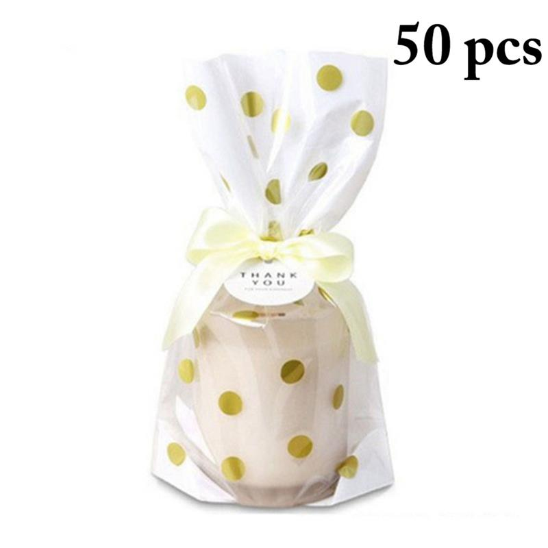 Us 4 76 15 Off 50pcs Cello Bags Gilding Flat Cookie Bag Cellophane Treat With Twist 150pcs Tie Candy Printing Gift For Friends In