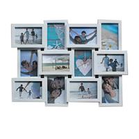 100 Photo Frame Decorative PVC Wall Hanging Square 12 Photo Sockets Collage Selfie Gallery Picture Frame