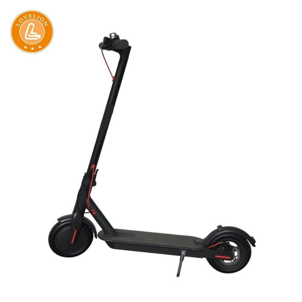 Scooter électrique LOVELION 8.5 pouces deux roues Scooter mode et gris foncé-écran Lcd Scooter pliant citycoco Superteff