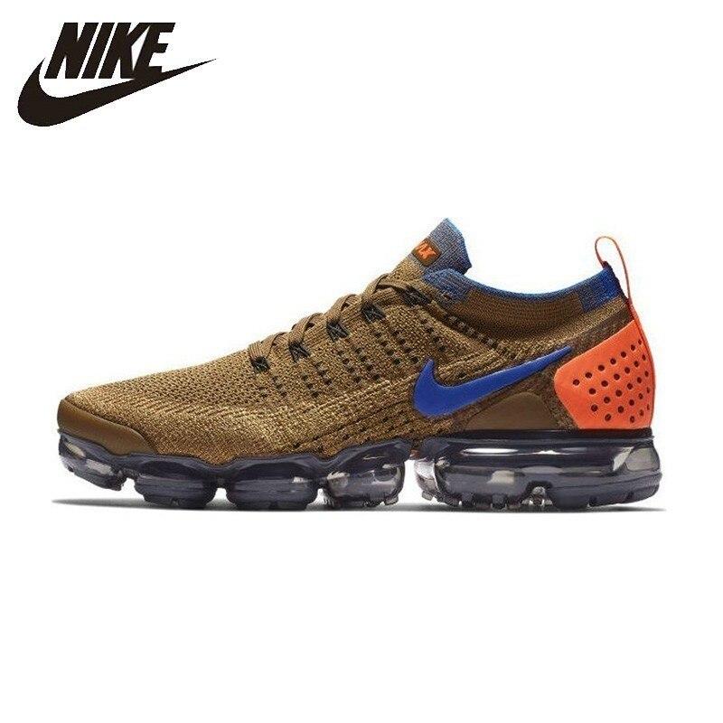 Homens Tênis Nike Flyknit Ar Vapormax Nova Chegada Respirável Não-escorregar Sneakers #942842-203/700 AT8955-013