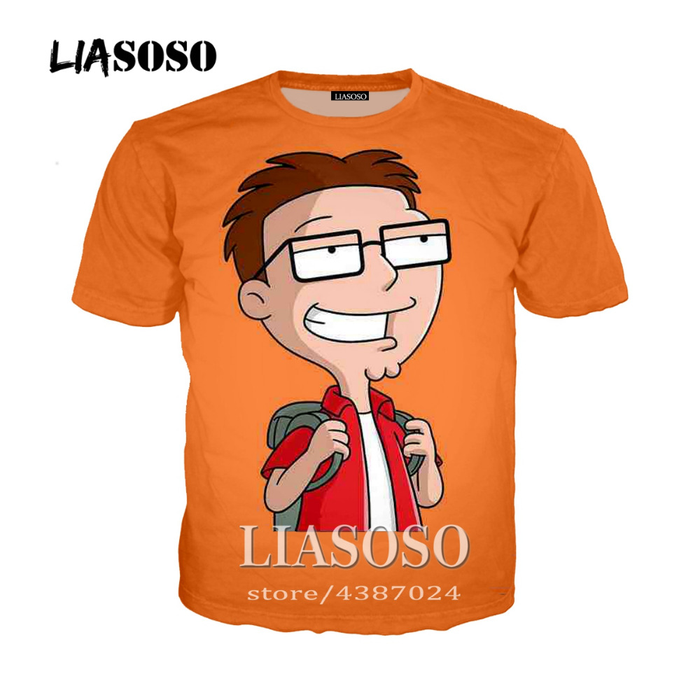 American Dad us $9.61 26% off|harajuku style menwomen casual t shirt pullover tees  cartoon anime american dad 3d print tshirt tops brand clothing-in t-shirts  from