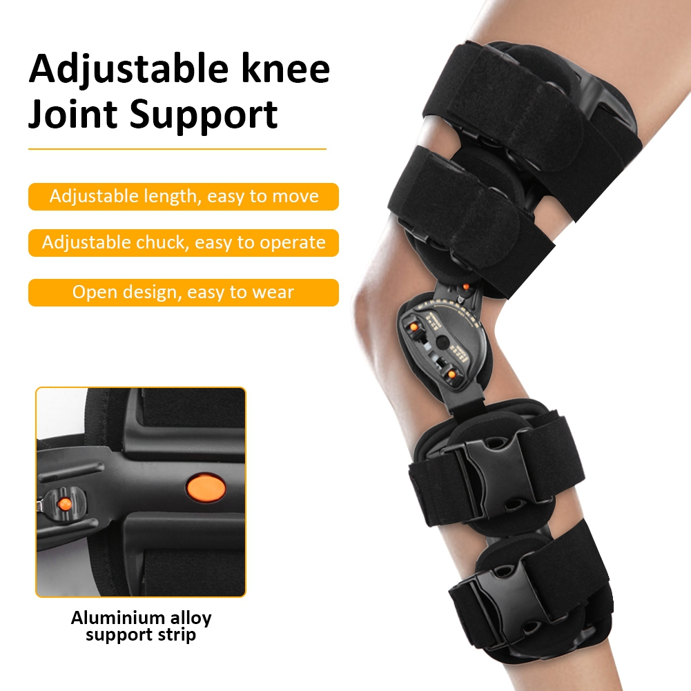 New Adjustable Knee Joint Brace Surgical Fixation Stabilization Fracture Ankle Support