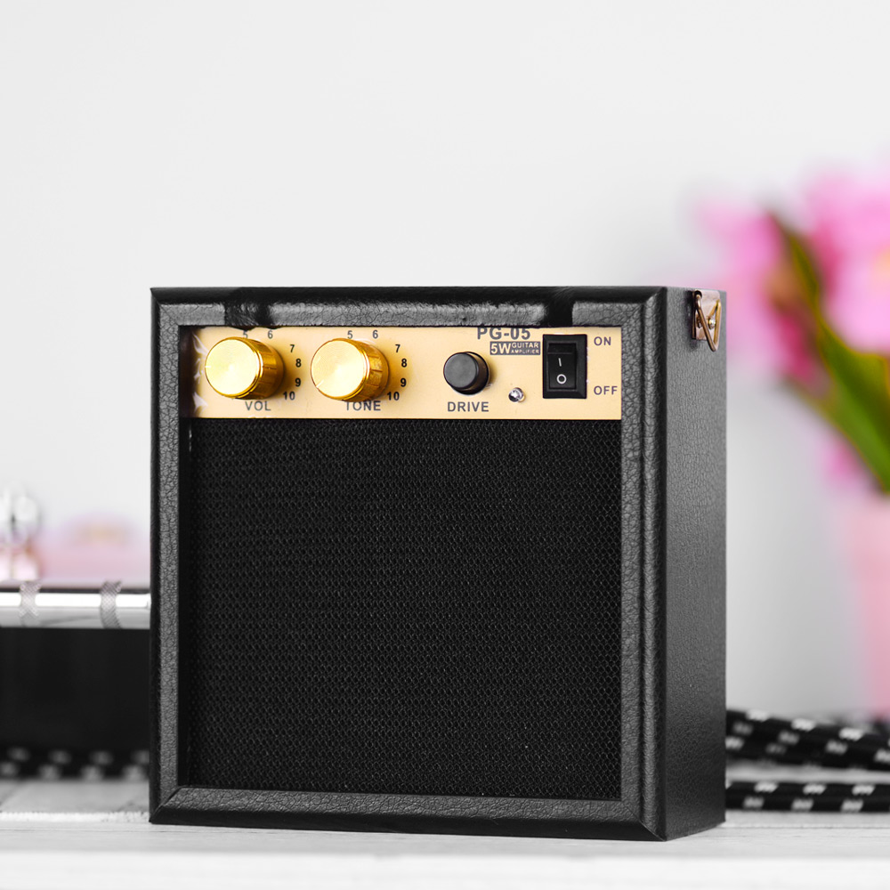 mini guitar amp portable guitar amplifier speaker 5w with headphone output supports volume. Black Bedroom Furniture Sets. Home Design Ideas