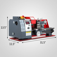 7x14 Top qualität mini bench metall drehmaschine mini bohrer combo cnc drehmaschine maschine-in Wärmepumpenboiler Teile aus Haushaltsgeräte bei