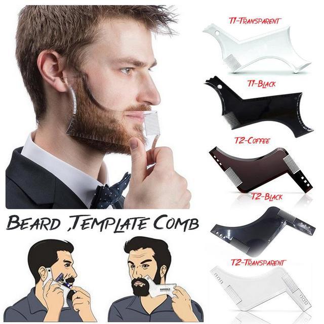 Plantilla de diseño de barba para hombre multifunción de belleza 2