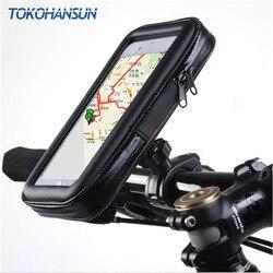 Universal à prova dwaterproof água motocicleta bicicleta scooter celular titular saco caso para iphone 11 pro 8 x para samsung suporte 3.5-6.5 Polegada
