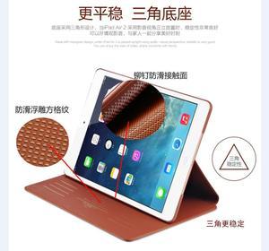 Image 3 - Güzel gerçek Premium hakiki deri kılıf apple iPad 2017 2018 9.7 inç hava 1 2 kapak kılıf açın/Kapalı koruyucu akıllı kılıf