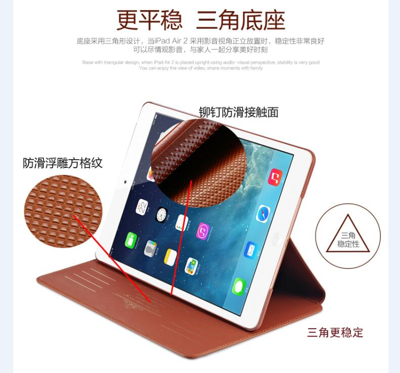 Trevligt äkta Premium äkta läderväska till Apple iPad 2017 2018 - Surfplatta tillbehör - Foto 3