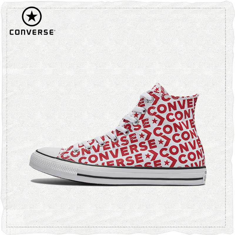 Converse Officielles Chuck Taylor All Star Haute Aider Unisexe chaussures pour skateboard à lacets Plat Sneaksers # 163953c