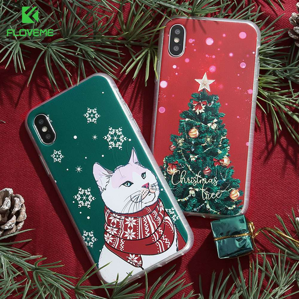 Cover with Christmas Trees for iPhone 8 7 6s 6