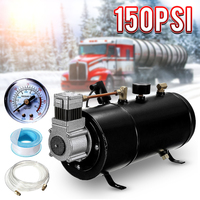 H004 150 PSI 12V Compressor Electric Air Compressor with 3 liters Tank Capacity for Air Horn Train Truck Auto Bicycles Tire