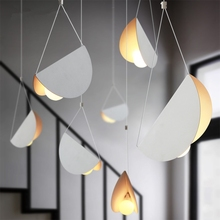 Modern Simple Pendant Lights Kitchen Dinning Room Pendant Lamps for Living Room Individual Cafe Art Paper Hanging Light Fixtures цена