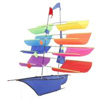 3D Sailing Ship 30M Kite Single Line With Tail Kites Outdoor Fun Toy Kite Family Outdoor Sports Toy Children Kids Free Shipping