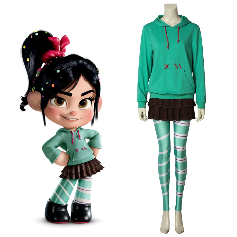 New Wreck-It Ralph2 Ralph Breaks the Internet Vanellope Cosplay Costume Halloween Outfit