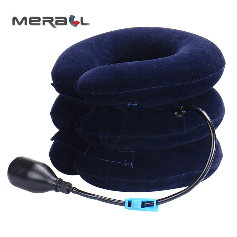 Neck Cervical Traction Device Inflatable Collar Head Back Shoulder Neck Pain Headache Health Care Massage Possture Brace Support