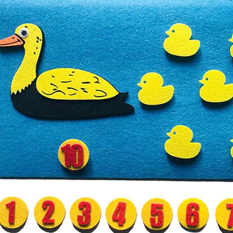 1 шт. игрушка Сделай Сам нетканый ручной подсчет интеллектуальная развивающая утка Семейные игрушки для малышей Дети