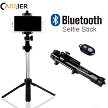 CASEIER Phone Tripod Foldable Selfie Stick For iPhone MAX XR XS X Bluetooth Samasung Huawei Remote Handheld