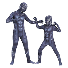 Kids Black Panther Costume Boy Adult Men Black Panther Children Cosplay Costume Jumpsuit Bodysuit Halloween Costume For Kids