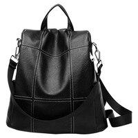 Женский рюкзак кошелек водонепроницаемый из искусственной кожи Противоугонный рюкзак модная школьная сумка на плечо