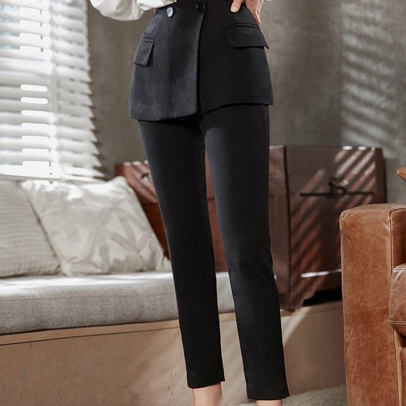 DEAT 2018 nuove donne di modo coreano fondo indossare poacket patchwork pantaloni della matita piatto di alta qualità della caviglia lunghezza WC04501L OL - 2