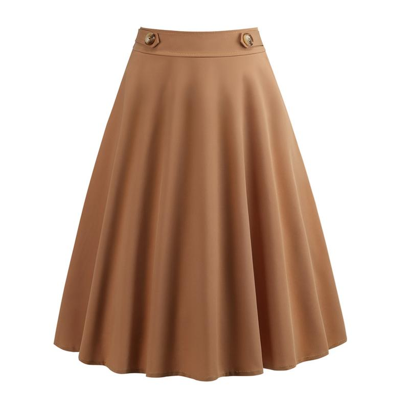 2018 New And Fashion Skirt Europe and America New Style  Women Space Cotton PatrySkirt With Bowtie Belt Skirt Pure Color Skirt