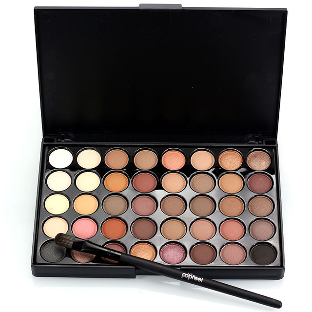 New Pigments Matte Eyes Shadow Palette Makeup Sets With Brushes Waterproof 40 Color Smoky Eyeshadow Glitter Palette Nude Makeup