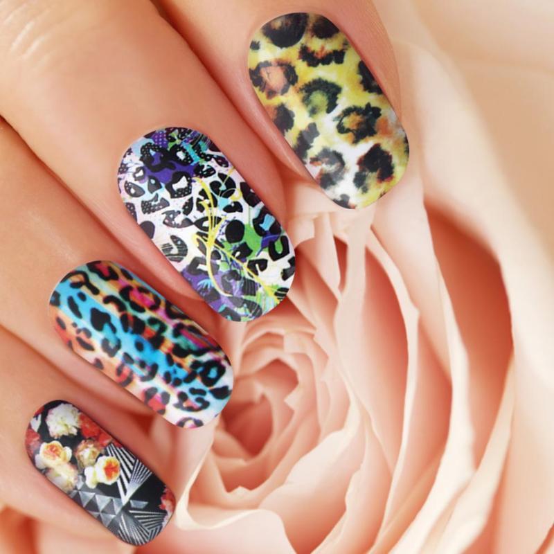 Diy Snow Leopard Nail Art: Aliexpress.com : Buy 12pcs Leopard Print Nail Art Water