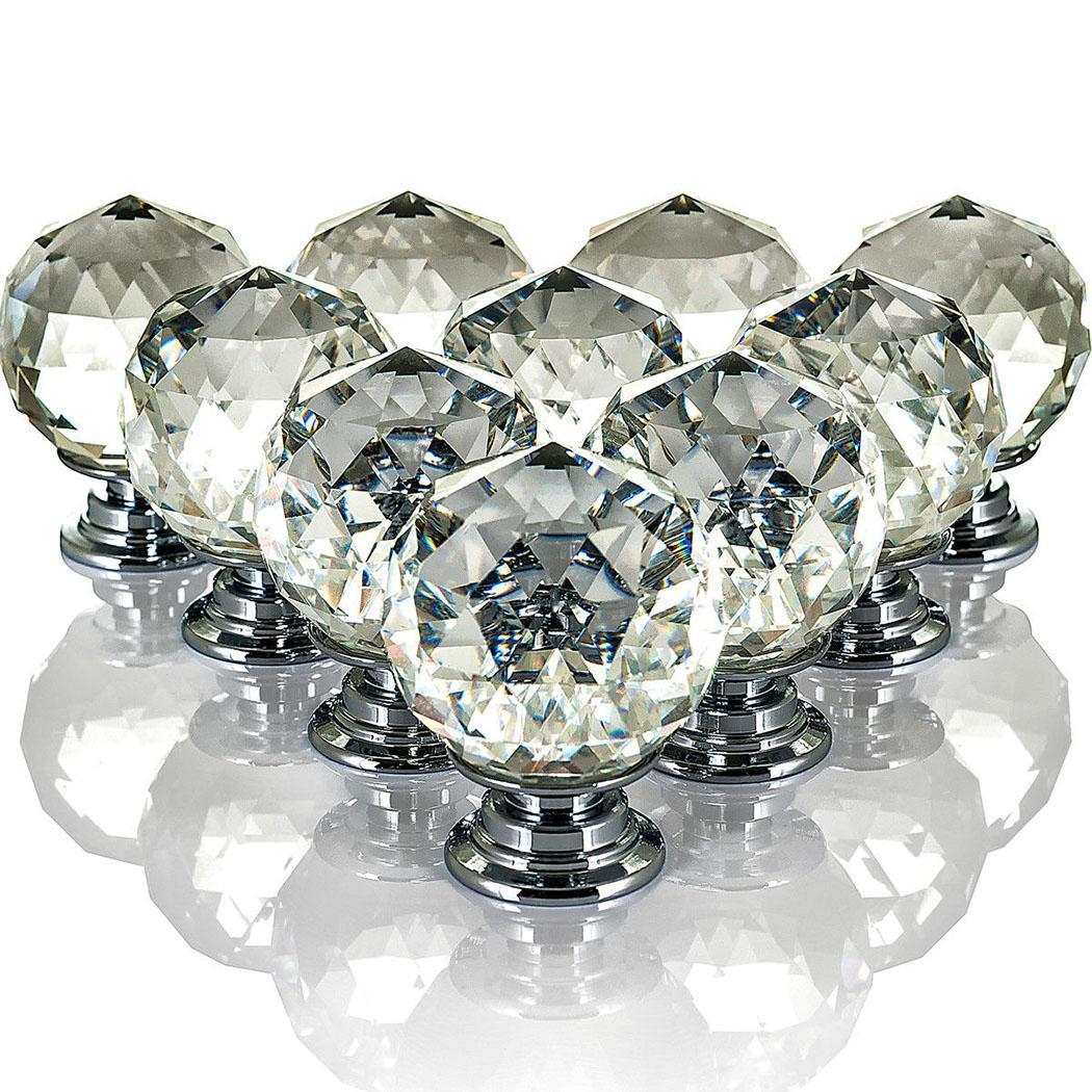 Knobs Crystal Transparent Cabinet Drawer New Modern Home bookcases Pull dresser cupboards Handles Cabinets drawers