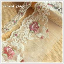 1.5 meters Lace ribbon for curtain table clothing lady hat decoration braid embroidery lace fabric trim diy sewing accessories(China)