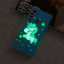купить CASEWIN For Samsung Galaxy A9 2018 Case Cute Unicorn Luminous Glow in the Dark Soft TPU Case For Samsung A9 2018 Case Silicone по цене 116.58 рублей