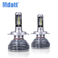 Mdatt Superbright Fanless Car Light 120W 12000LM LED Headlight ZES Bulb H4 Led H1 H7 H11 9005 9006 12V Auto LED Car Lamp Canbus