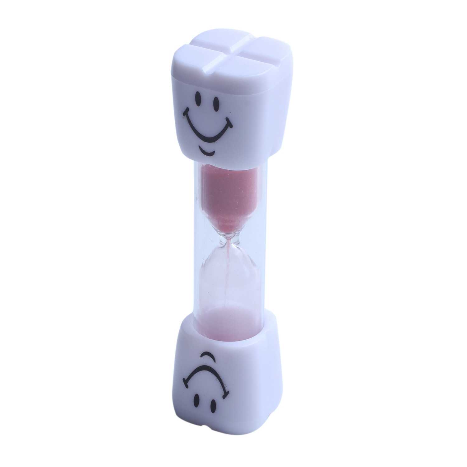 Hot-2 Minute Hourglass Kids Brush teeth Timer Smile Sand Egg Timer 2 Minutes Sandglass Timer red