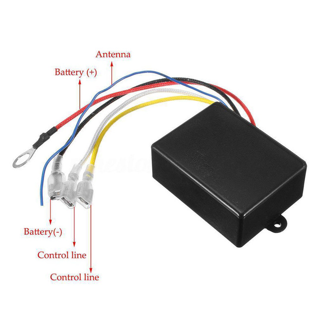 Best Price 1c07 500a Winch Remote Kit Hd Contactor Winch Control Solenoid Relay Twin Wireless Remote Trucks With Wiring Diagram Fit 12v Winch Cicig Co