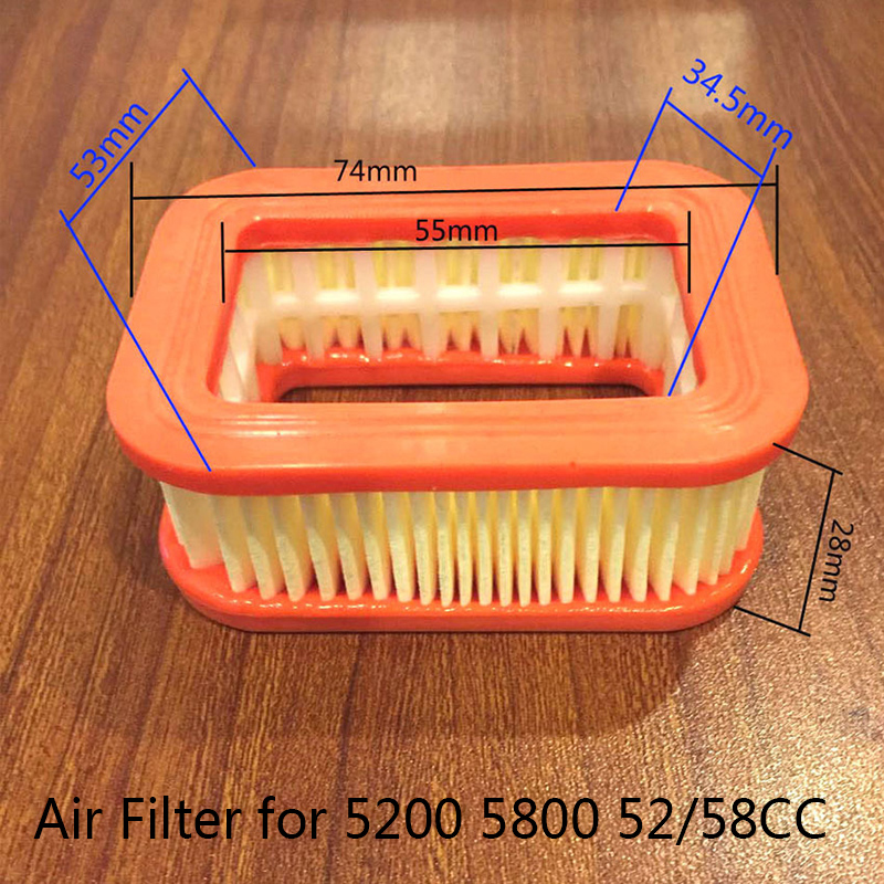 Gasoline Chainsaw Paper Air Filter Replacement For 5200/5800/52/58CC Chainsaws