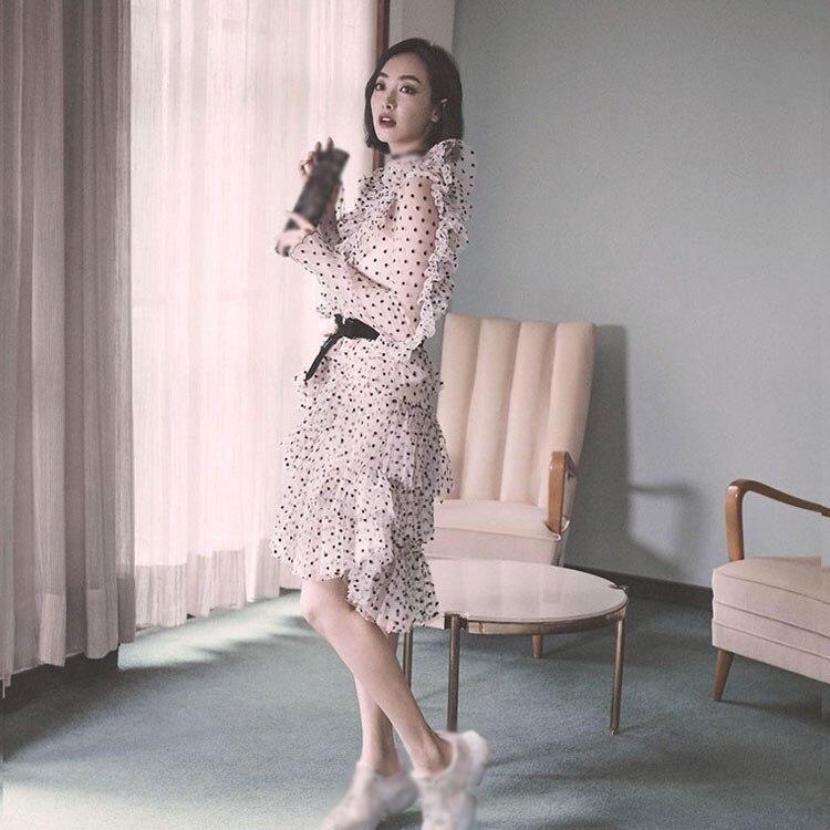cou Volants Doux Parti Vacances Chaussures Rose D'entraînement V 2019 Noir À Printemps De Femme Robe Sexy Point SHxZn1nYB
