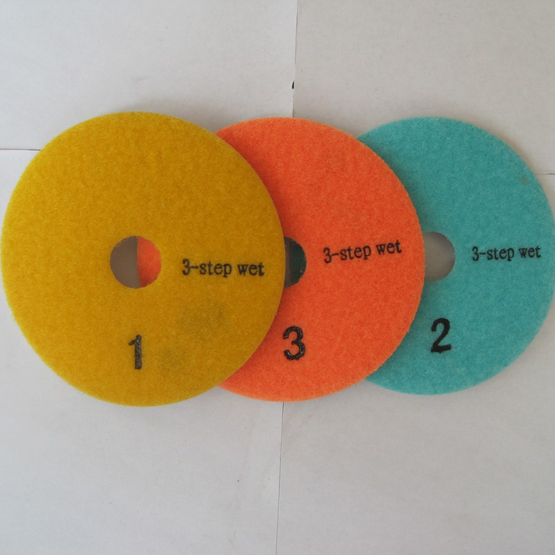 "Free shipping 40Pcs/lot 4""/100mm  3 step Diamond Polishing Pad  50 pcs 125 saw blade-in Polishing Pads from Tools    1"