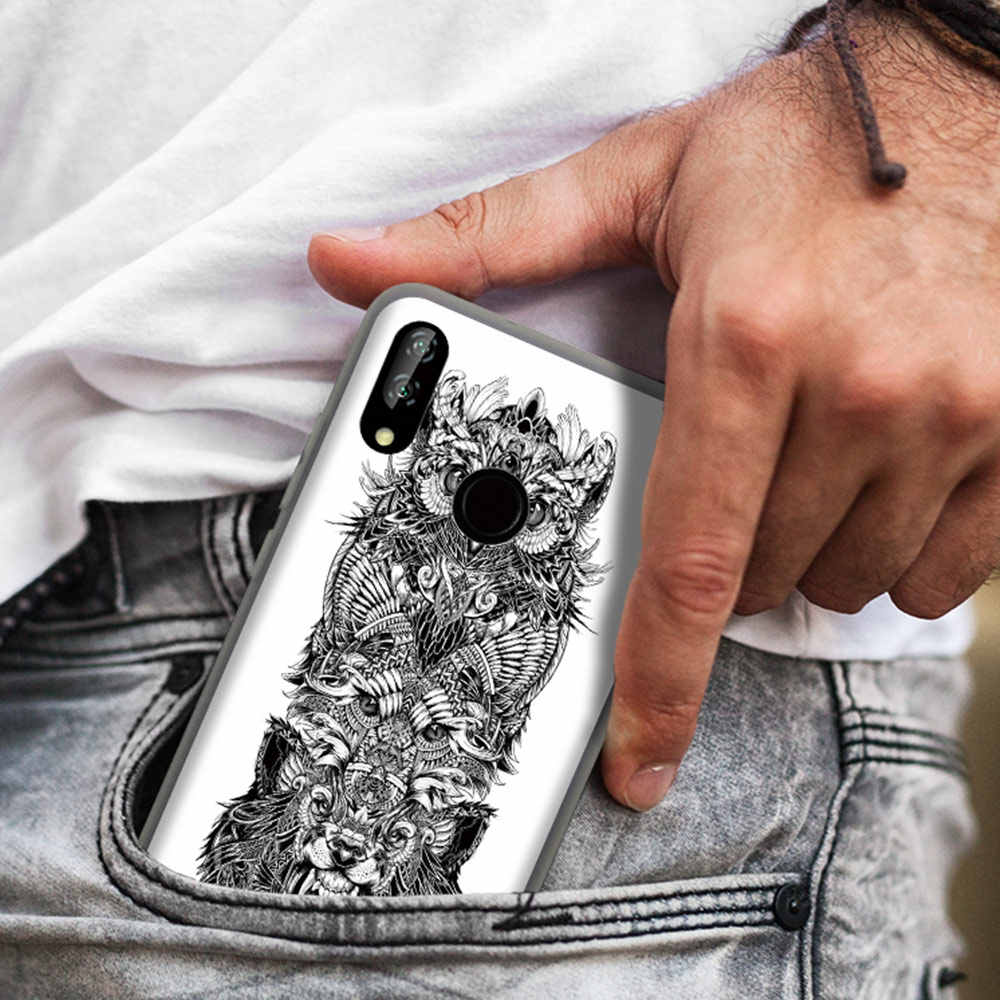 CASEIER Luxury Tattoo Animal Scrub Phone case For Huawei P20 P9 P10 Mate20 Lite Pro TPU Soft Case For Honor 8 9 10 For Nova 3i