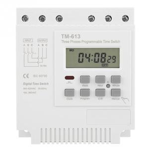 Image 5 - TM 163 programlanabilir zaman rölesi 3 fazlı zaman anahtarı 380V dijital mikrobilgisayar kontrolü zaman rölesi su pompası zamanlayıcı anahtarı beyaz