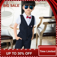 Baby Boys Clothes Fashion Toddler Girls Set Formal Suits Gentleman 2 Pcs Polka Dot Shirt+ Trousers Kids