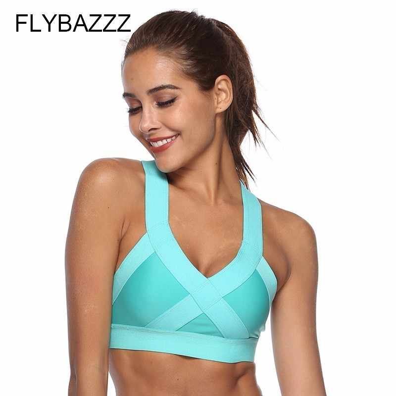 aa8ac45bc3a83 Push Up Sports Bra High Shockproof Running Women Sexy Seamless Sport Bra  Crop Top For Yoga