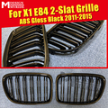 1 пара X1 E84 Решетка переднего бампера ABS глянцевый черный X1 M-Style Двойные решетки для X1 E84 передний бампер ноздри 2011-2015