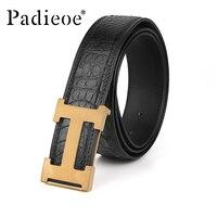 Padieoe men belt long luxury fashion automatic beltsr Retro