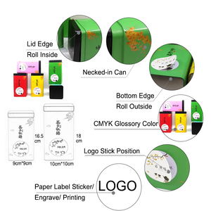 Image 5 - 新嘉李包装金属ボックスカスタムエンボス加工錫平方ボックスウェディングクリア日本スタイル茶装飾ボックス卸売