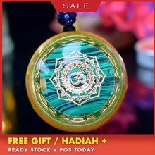 AURA Reiki Orgonite Divination Pendant Necklace Natural Energy Crystal Guardian Enhances Fortune Jewelry Unisex