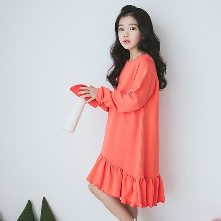 Cotton Ruffles Teenage Girls Dresses Age 8 9 10 11 12 13 ...